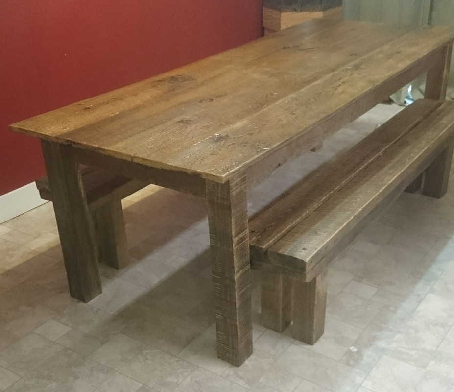 Clic Farm Table This Is Made Entirely Of Reclaimed 100 Year Old Barnwood It Available In 2 Foot Increments 6 Ft 500 00